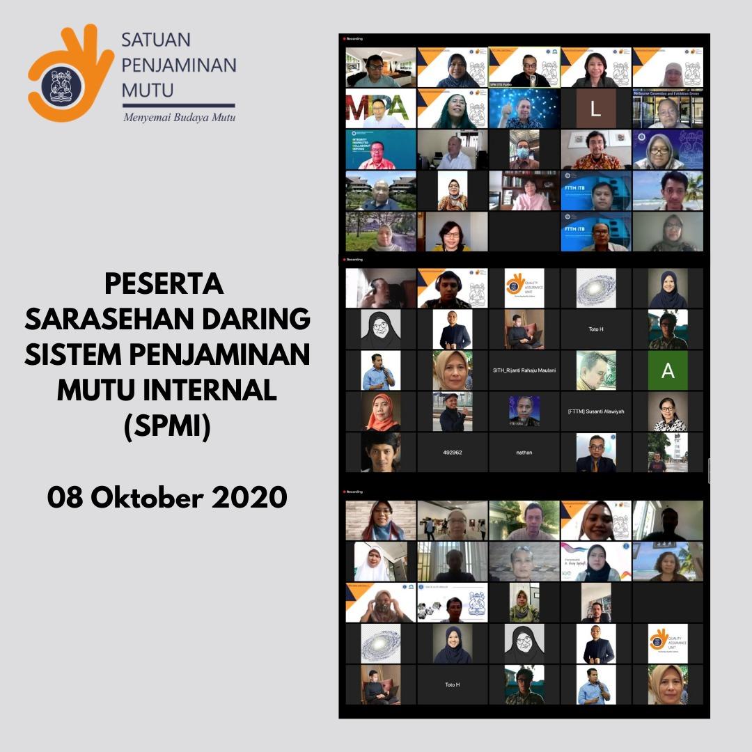 Sarasehan Daring Sistem Penjaminan Mutu Internal (SPMI)