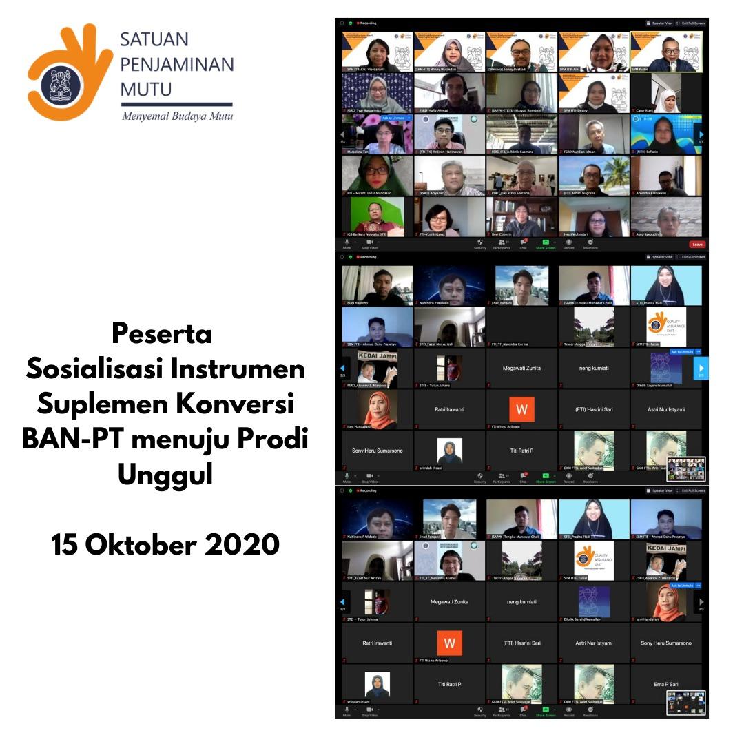 Sarasehan Sosialisasi Instrumen Suplemen Konversi BAN-PT menuju Program Studi Unggul